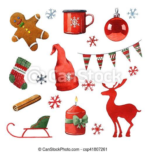 Bilder Weihnachten Clipart.Aquarell Weihnachten Clipart