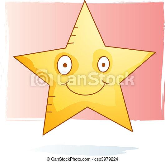 aquarelle, étoile - csp3979224