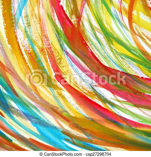 aquarelle, peint, résumé, fond - csp27298704