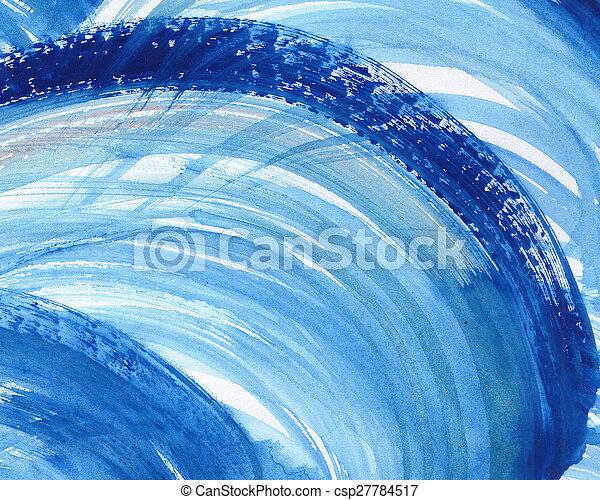 aquarelle, peint, résumé, fond - csp27784517