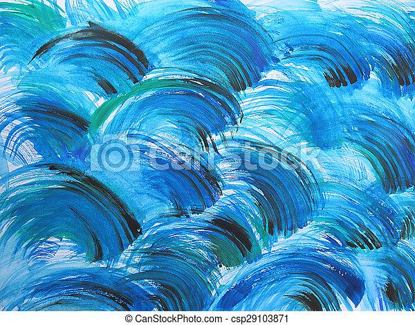 aquarelle, peint, résumé, fond - csp29103871