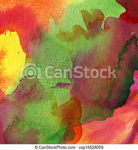 aquarelle, peint, résumé, fond - csp16528059