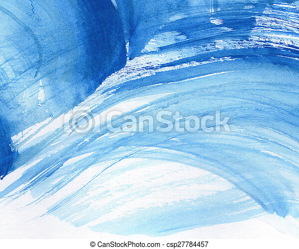aquarelle, peint, résumé, fond - csp27784457