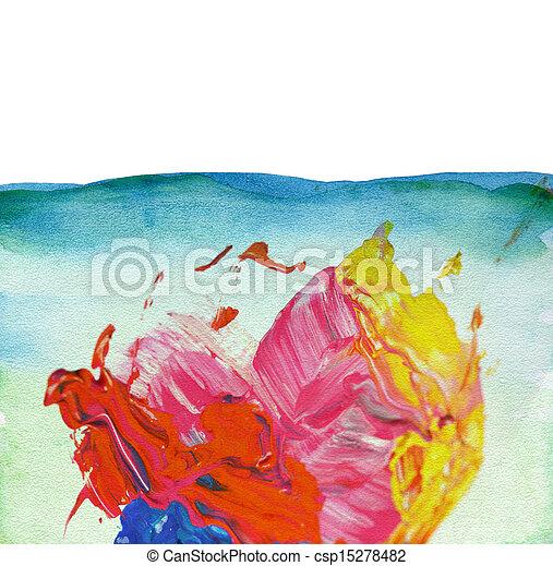 aquarelle, peint, résumé, fond - csp15278482