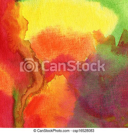 aquarelle, peint, résumé, fond - csp16528083