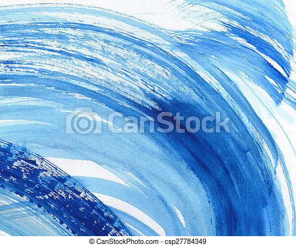 aquarelle, peint, résumé, fond - csp27784349