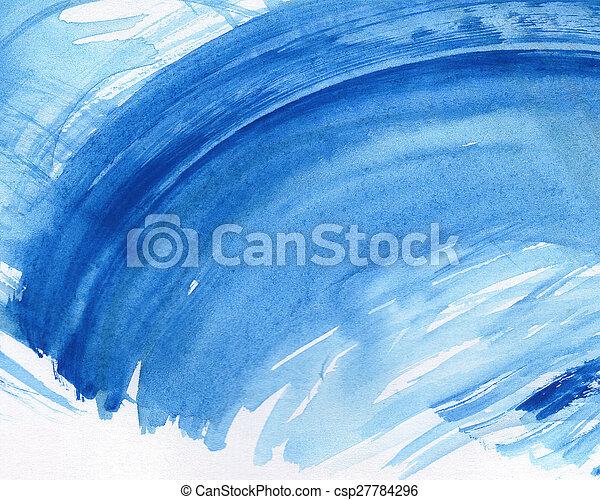 aquarelle, peint, résumé, fond - csp27784296