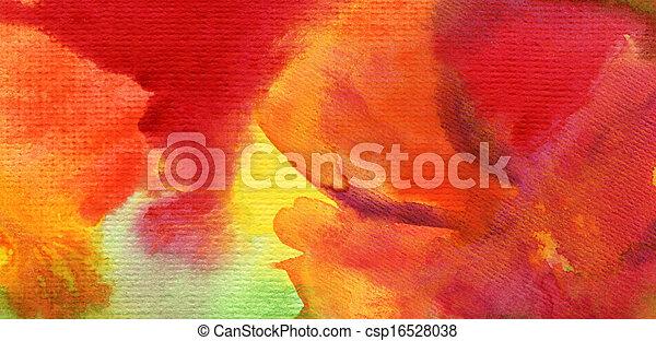aquarelle, peint, résumé, fond - csp16528038