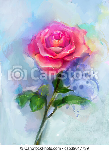 Aquarelle Rose Peinture Rouges