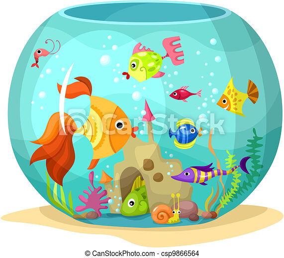 vector illustration of a cute aquarium eps vector search clip art rh canstockphoto com aquarium clipart black and white empty aquarium clipart