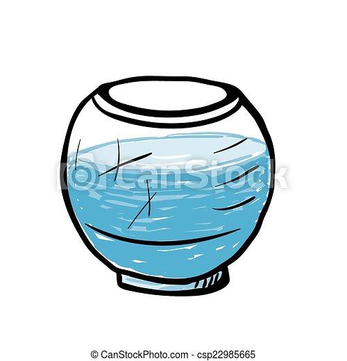 Aquarium vide croquis illustration rond croquis for Prix aquarium rond