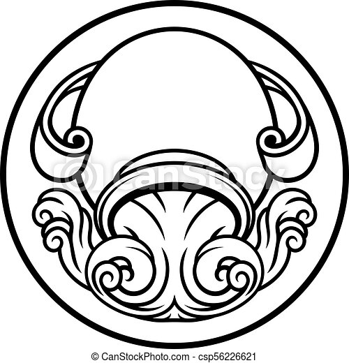 Aquarius Horoscope Zodiac Astrology Sign Astrology Zodiac Vector