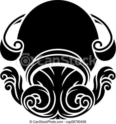 Aquarius Horoscope Zodiac Sign Zodiac Signs Circular Aquarius Water