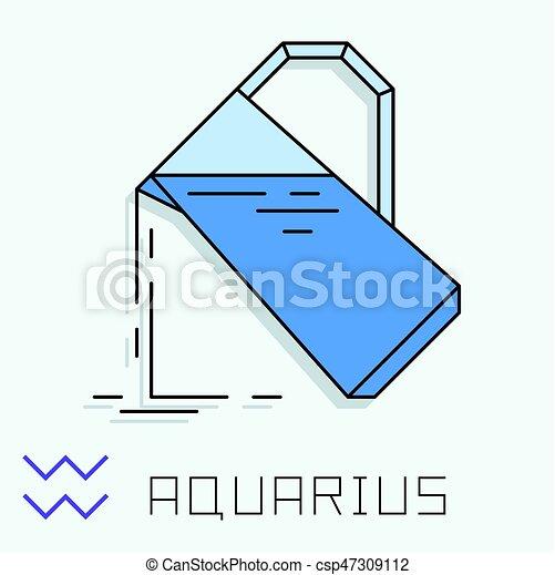 Aquarius Sign Aquarius Zodiac Sign Horoscope Symbol Vector