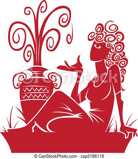 Aquarius zodiac sign Illustrations and Clip Art  6,611