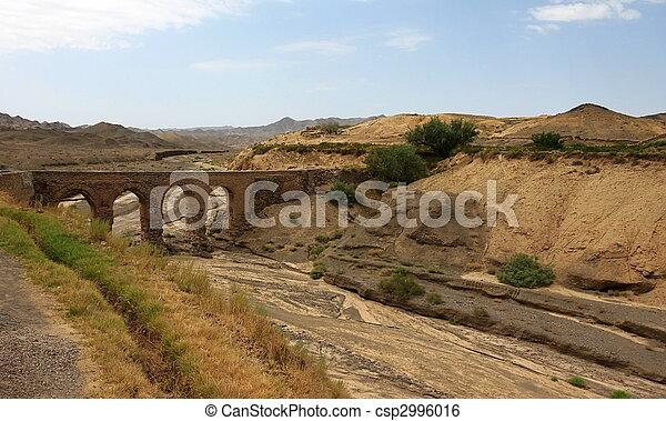 Aqueduct in Kharanaq village near Yazd. Iran - csp2996016