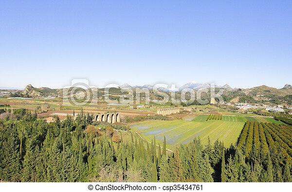 Aqueduct of Aspendos - csp35434761