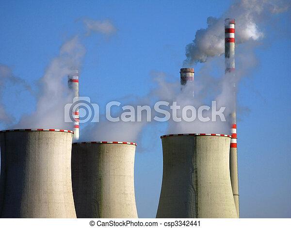 ar, poluição industrial - csp3342441