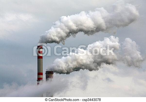 ar, poluição industrial - csp3443078