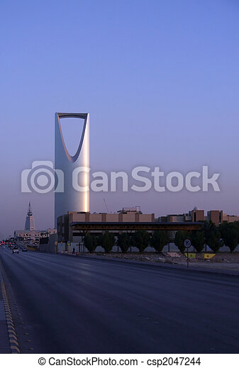 Ar Riyadh at sunset - csp2047244