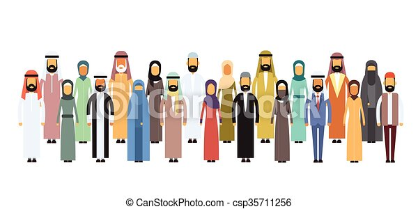 Arab Business People Group, Arabic Team  - csp35711256