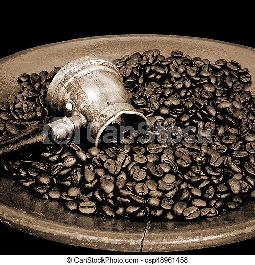 Arab copper coffee pot - csp48961458