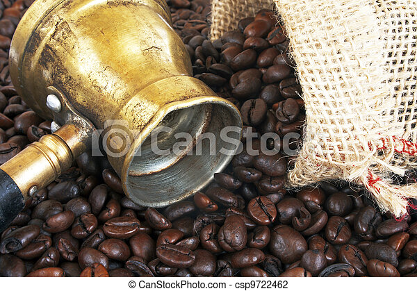 Arab copper coffee pot - csp9722462