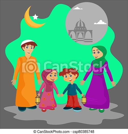 Arab family - csp80385748