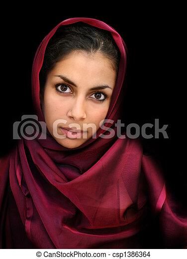 Arab Girl Csp1386364