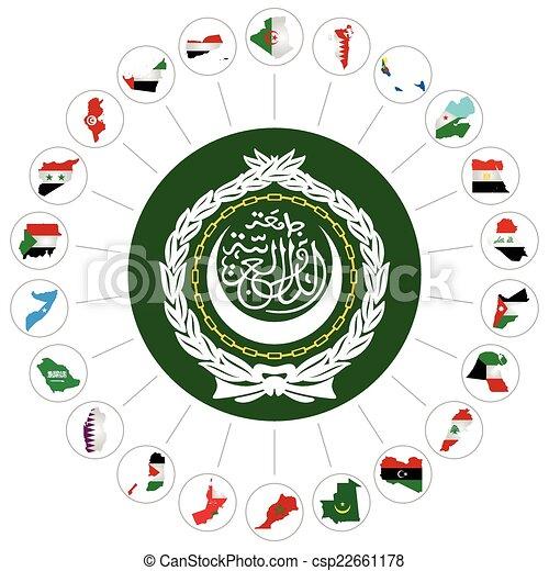 Arab League member states - csp22661178