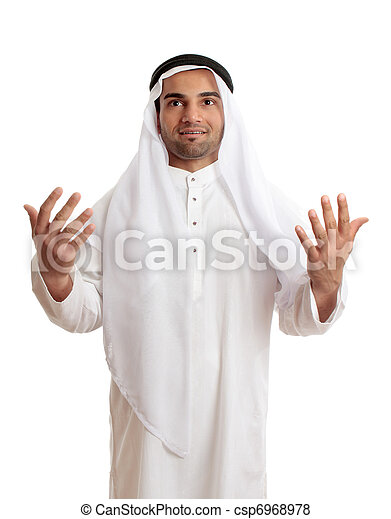 Arab man in praise or worship - csp6968978