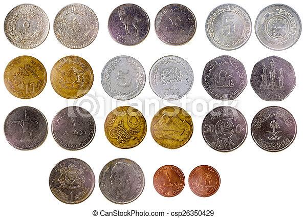 arab, olik, mynter, gammal - csp26350429