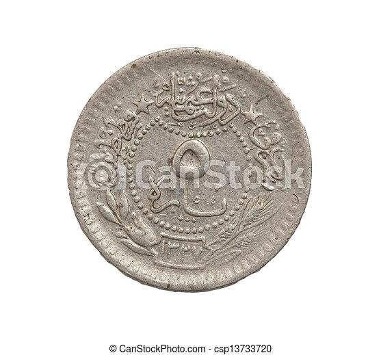 arab, vit, mynter, bakgrund - csp13733720