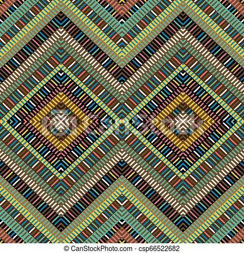 arabescos, africano, experiência colorida, geométrico - csp66522682