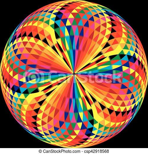 arabesque button on black - csp42918568