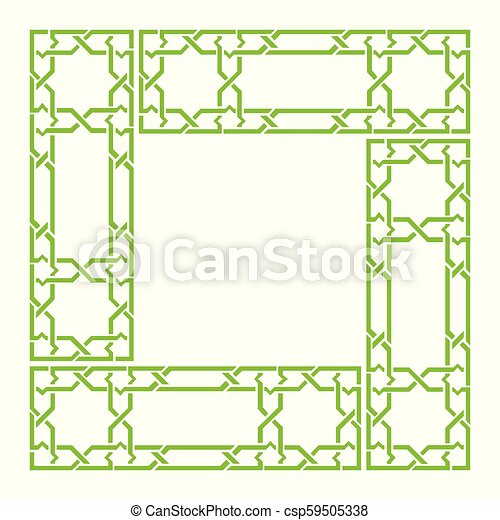 Arabesque frame, geometric border - csp59505338