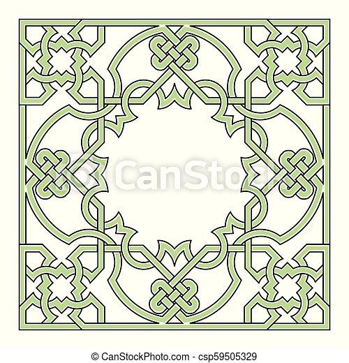 Arabesque frame, geometric border - csp59505329