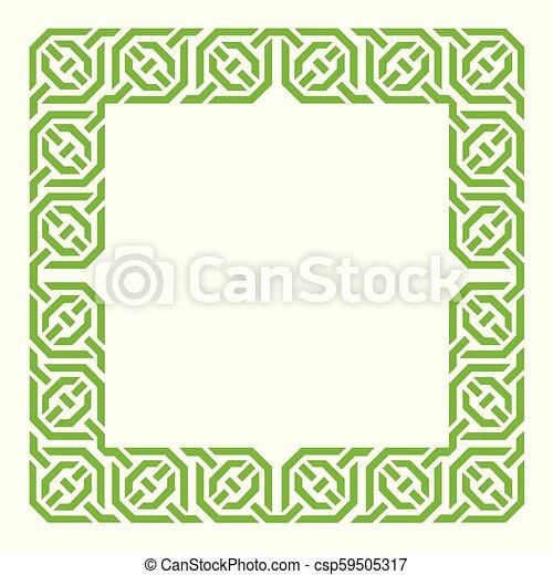 Arabesque frame, geometric border - csp59505317