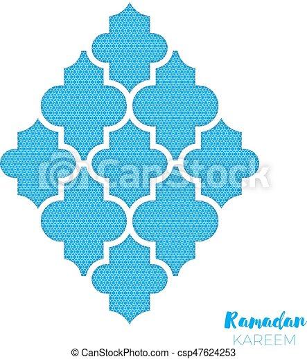 Arabesque mosque window ramadan kareem greeting card with arabic arabesque mosque window ramadan kareem greeting card with arabic pattern holy month of muslim crescent moon symbol of islam applique design vector m4hsunfo
