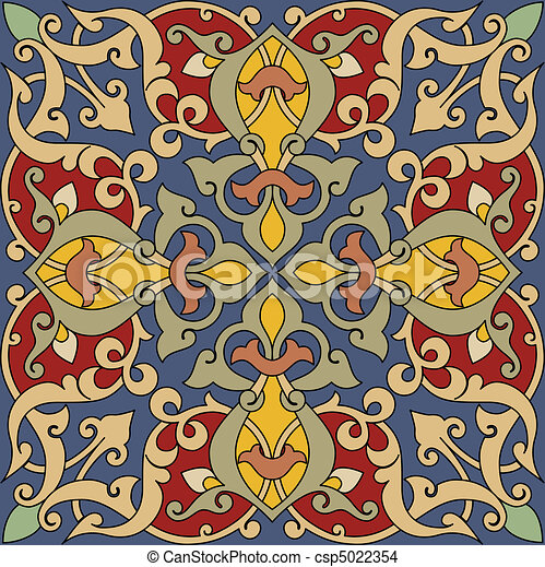 Arabesque Tile - csp5022354