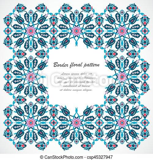 Vintage frame border design Pink Arabesque Vintage Frame Border For Design Template Vector Can Stock Photo Arabesque Vintage Frame Border For Design Template Vector Eastern