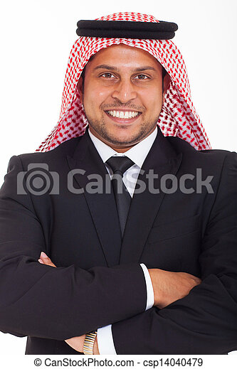 Arabian Businessman With Arms Crossed