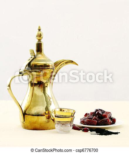 Arabian coffee and dates - csp6776700