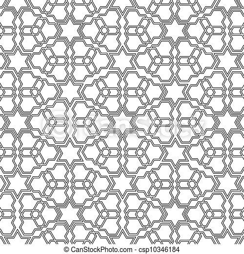 Arabian delicate pattern vector illustration for Delicate in texture crossword clue