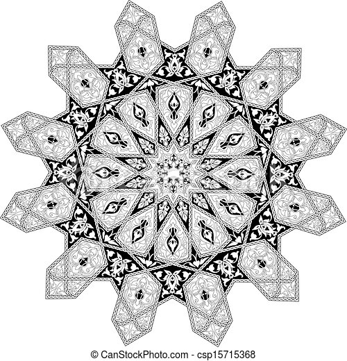 Arabian floral pattern motif - csp15715368