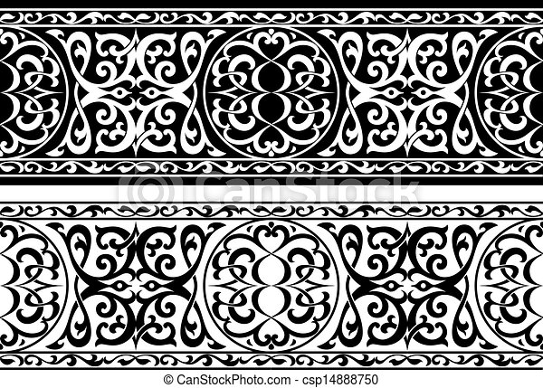 Arabian or persian ornament - csp14888750