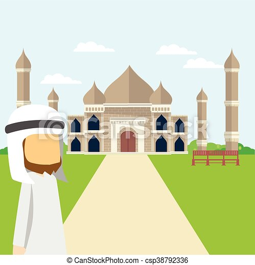 arabian tour taj mahal - csp38792336