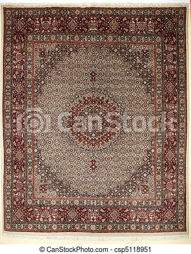Arabic carpet colorful persian islamic handcraft - csp5118951