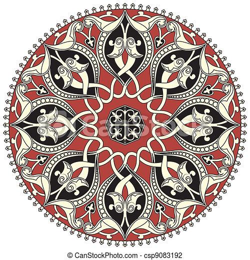Arabic circular pattern - csp9083192
