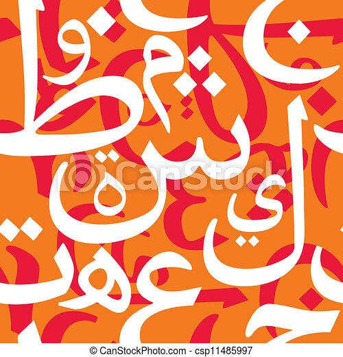 Arabic Letters Seamless Pattern - csp11485997